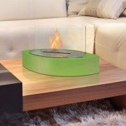 Argos W by Purline® a bioethanol table fireplace, original shape white colour