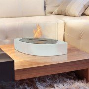 Argos W by Purline® a bioethanol table fireplace in original form white colour