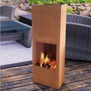Brasero EFP8 of Purline, a garden fireplace and barbecue, last trend, rusty old colour