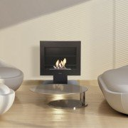 Gaia, table or floor bioethanol fireplace by Purline® , with stand