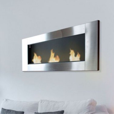 Afrodita, cheminée murale bio-éthanol façon torchère pour intérieur et extérieur