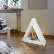 Talia W, cheminée de sol bio-éthanol Purline® de forme pyramidale