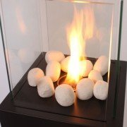 Gray colored stones for fireplace bioethanol