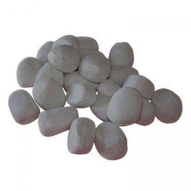 Pierres décoratives de couleur grise pour cheminée bioéthanol
