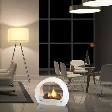 Purline ® Saturn - Bioethanol Kamin mit tollem Design, in weiß