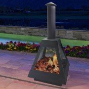 EFP10, an exterior wood brazier , big sizel with integrated fireplace.