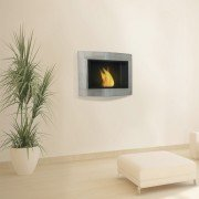 Thea is a PULRINE® bioethanol wall fireplace.