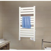 NTW-10 - electric towel dryer, electric towel rail, 103 cm, 500 Watts, white aluminum