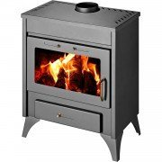 CPEKTRA K Woodstove 9 to 12 Kw, elegant with convection effec