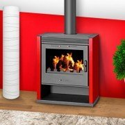 Wood stove RUBIN 13 Kw at 21 Kw, for 130 has 240 m ², logs of 50 cm!