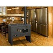 Chaudière, Cuisinière à bois W12 de Purline, large four 14 kW , pour 160 m² et jusqu'à 4 radiateurs