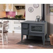 Wood stove Metal on foot by Purline, large oven 9kW to 14 kW, for 100 m²