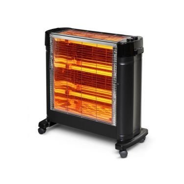 CHE 500 Huge Decorative Electric Fireplace with black glass, 140 Cm by PURLINE .