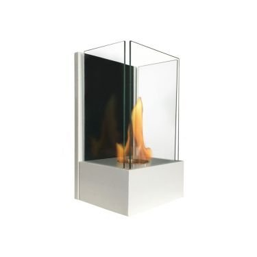 Eos white, an ultra modern bioethanol fireplace, the star of your decoration.