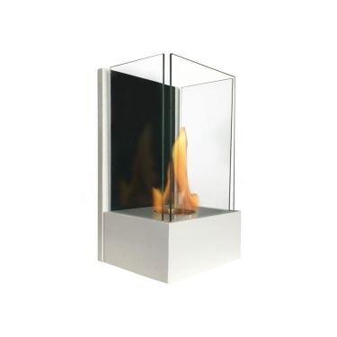 Eos blanco, una chimenea bioetanol ultra moderna, la estrella de tu decoración.