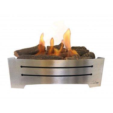 Lara INOX, bloc de combustion insert idéal pour insérer dans une cheminée existante.