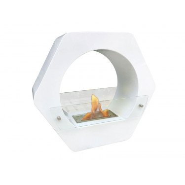 Saturn is a floor fireplace ultra design for interior and exterior use