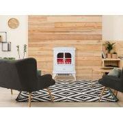 CHE 200 Cheminée décorative moderne, à poser au sol ou contre le mur,
