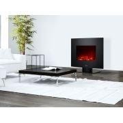 Cheminée électrique avec pied et façade courbée couleur noire avec puissance max 2000 W