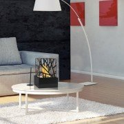 Amaltea, a bioethanol fireplace, table, modern design. Amaltea, a superb bio ethanol fireplace design easily transportable.
