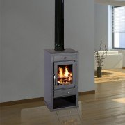 Wood stove Kw to 17 Kw 12, powerful elegant, very compact.
