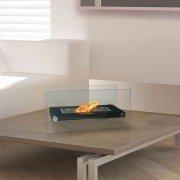 Dafne W, une extraordinaire cheminée bio éthanol de table d'un design époustouflant.