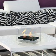 Oniros duo, table bioethanol fireplace, a first price fireplace, sleek and modern!