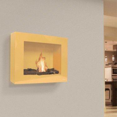 BestBio Design Ocre, cheminée bioethanol murale ocre