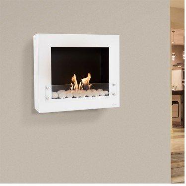 BestBio Design white, profitez d'un feu de flamme réel, dans une cheminée ultra moderne !
