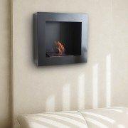BestBio negro, disfruta de las llamas de fuego reales, en una chimenea ultra moderna!