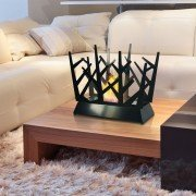 Dafne B, an extraordinary bio ethanol fireplace for table with stunning design.