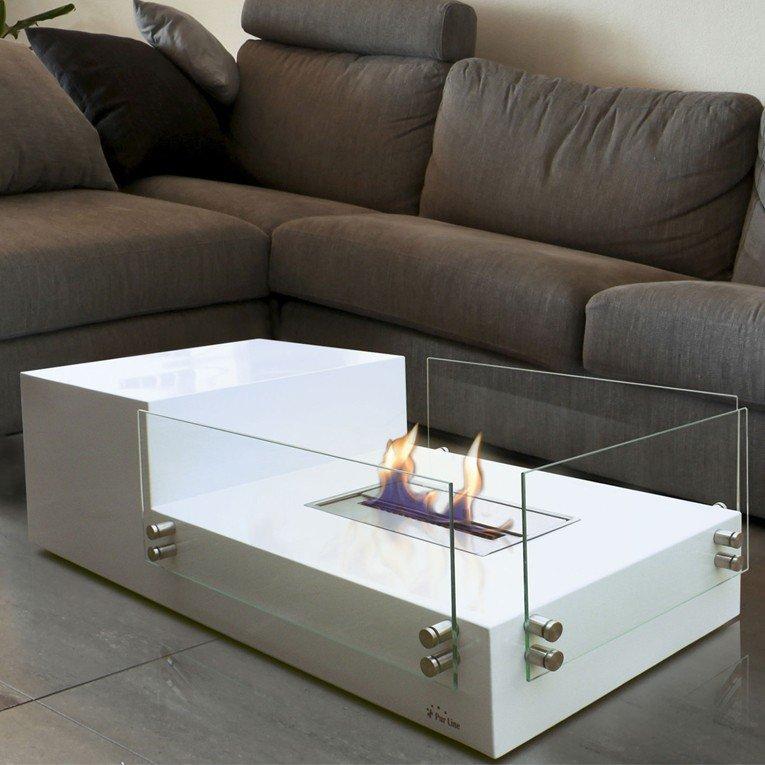 Table De Salon Avec Ceminee Bioethanol Integree