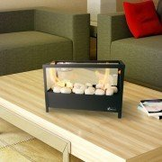 AF-32, Table bioethanol fireplace, double burner simple and modern